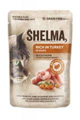 SHELMA krůtí s rakytníkem v omáčce, kapsička pro kočky 85 g