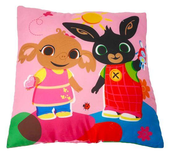 """SETINO Poduszka dla dziewczynki """"Bing"""" - 40x40cm - różowy"""