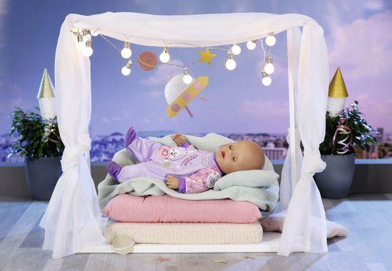 BABY born Birthday edition Žametni pajac, vijoličen, 43 cm