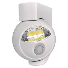Emos COB LED baterijska svetilka s senzorjem gibanja bela