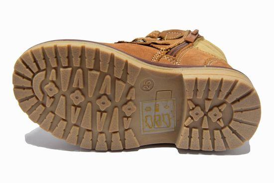 Dievčenská členková obuv - hnedá