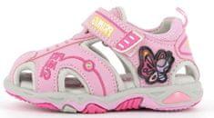 Primigi 7450900 svjetleće sandale za djevojčice, ružičaste, 21