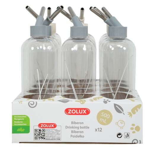 Zolux Itató rágcsálóknak cseppmentes rendszerrel 500ml mix színek bézs/szürke