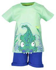Blue Seven komplet majica i kratke hlače za dječake 939001 X_1, 68, zelen