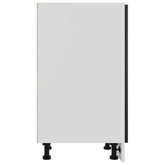 shumee omara s predalom Visoko sijajna črna deska 50x46x81,5 cm