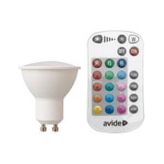 Avide SMART RGB LED sijalka GU10 4.5W RGB+W 2700K z daljinskim upravljalnikom