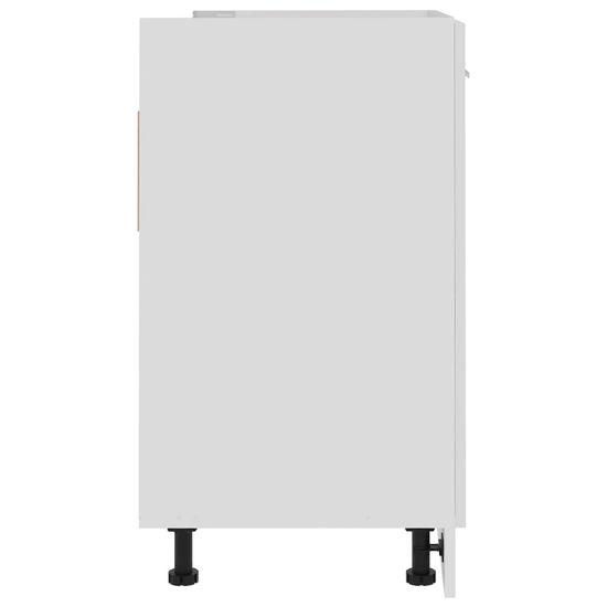 shumee Omarica za umivalnik Visoko sijajna bela 80x46x81,5 cm deska
