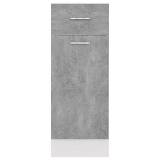 shumee Predalna omarica Siva beton 30x46x81,5 cm Deska