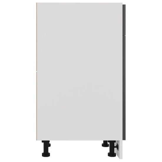shumee omara s predalom Visoko sijajna siva plošča 30x46x81,5 cm
