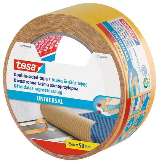 Tesa tesa® Oboustranná kobercová páska Universal, bílá, 25m x 50mm