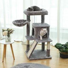 Songmics Luxusní škrabadlo pro kočky s velkým pelíškem