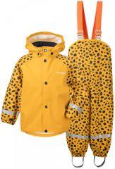 Didriksons1913 detský set nepremokavej bundy a nohavíc D1913 Slaskeman Print 503733-855 80 žltá