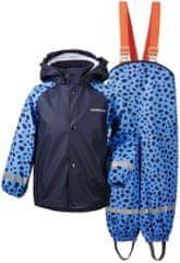 Didriksons1913 zestaw dziecięcy - nieprzemakalna kurtka i spodnie D1913 Slaskeman Print 503733-856, 120 niebieski