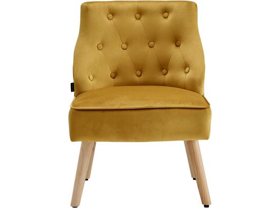 Danish Style Čalouněná židle Spoky (SET 2 ks), zlatá