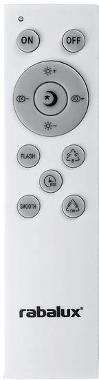 Rabalux SMART LED svetilka 3509 Rodion, stropna, bela/srebrna