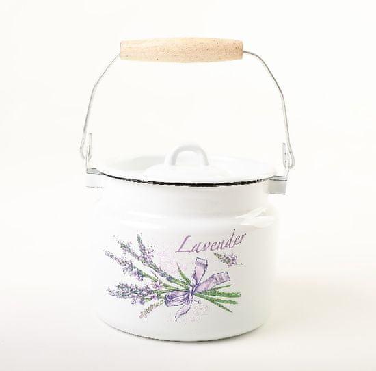 OLYMP lonček za mleko s pokrovom, Ø 16 cm, 2 l, sivka