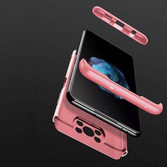 GKK 360 Full Body műanyag tok Xiaomi Poco X3 NFC, rózsaszín