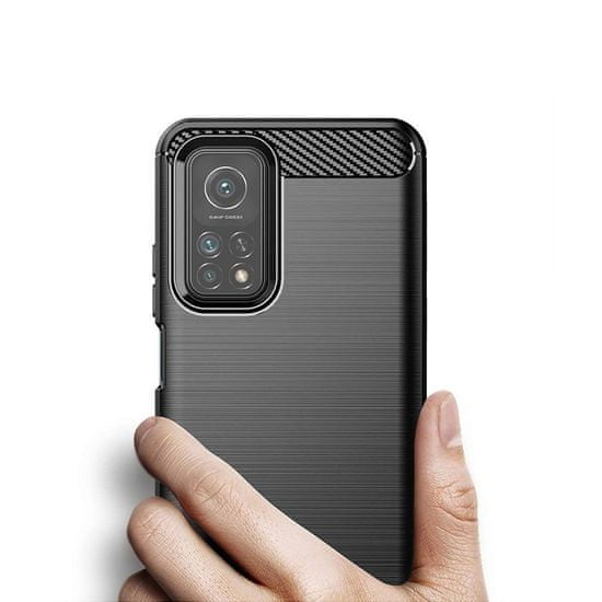 MG Carbon Case Flexible silikonski ovitek za Xiaomi Mi 10T Pro / Mi 10T, črna
