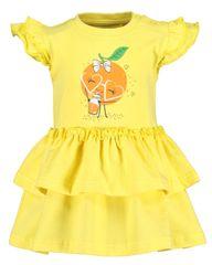 Blue Seven dívčí tričko s volány 901103 X_1 68 žlutá