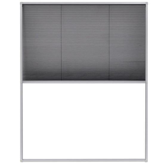 shumee Plise komarnik za okna aluminij 120x160 cm