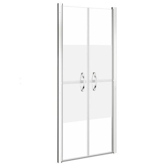 shumee Vrata za tuš pol mlečna ESG 86x190 cm