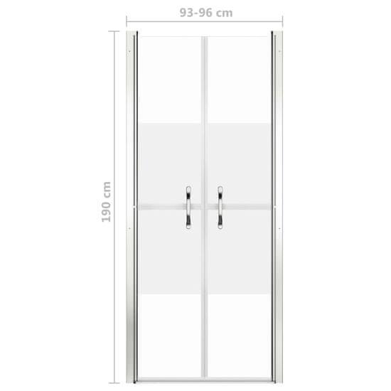 shumee Vrata za tuš pol mlečna ESG 96x190 cm
