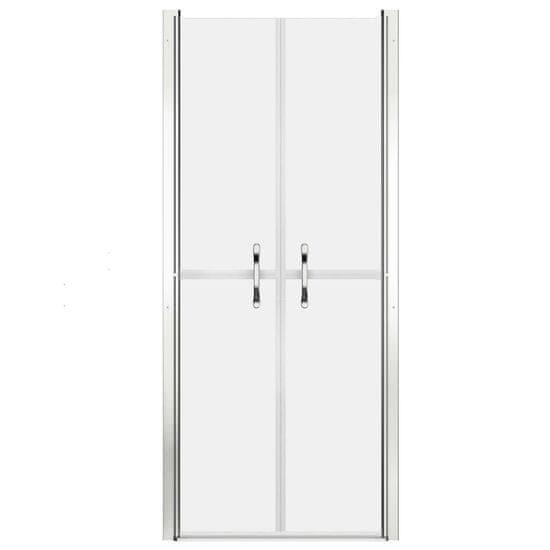 shumee Vrata za tuš mlečna ESG 81x190 cm