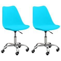 shumee Kancelárske stoličky 2 ks modré umelá koža