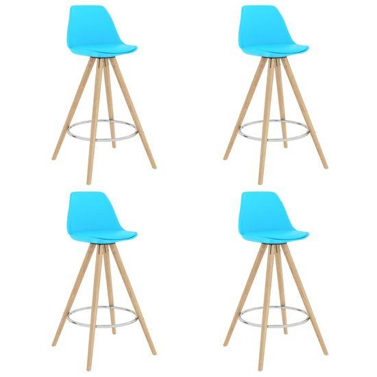 shumee 5-częściowy zestaw mebli barowych, niebieski