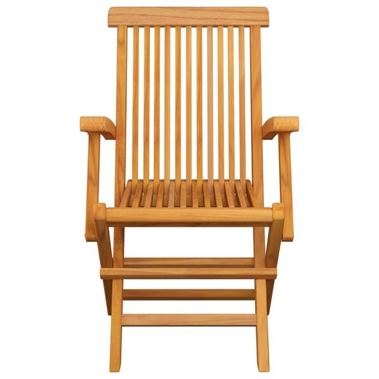 shumee 4 db tömör tíkfa kerti szék krémszínű párnával
