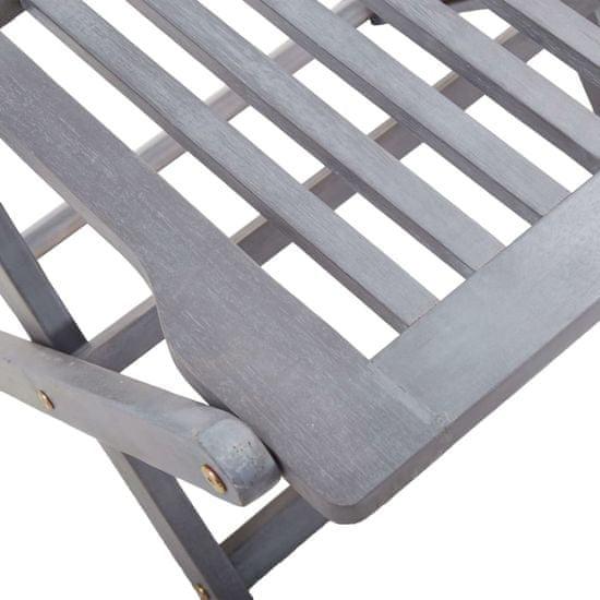 Petromila 4-dielna bistro súprava masívne akáciové drevo sivé