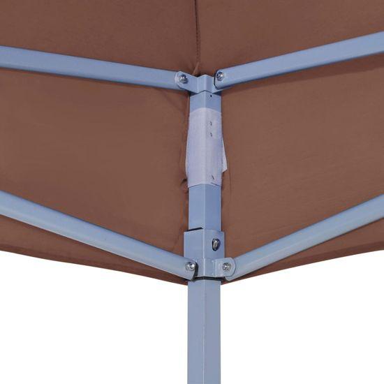 shumee Streha za vrtni šotor 2x2 m rjava 270 g/m²