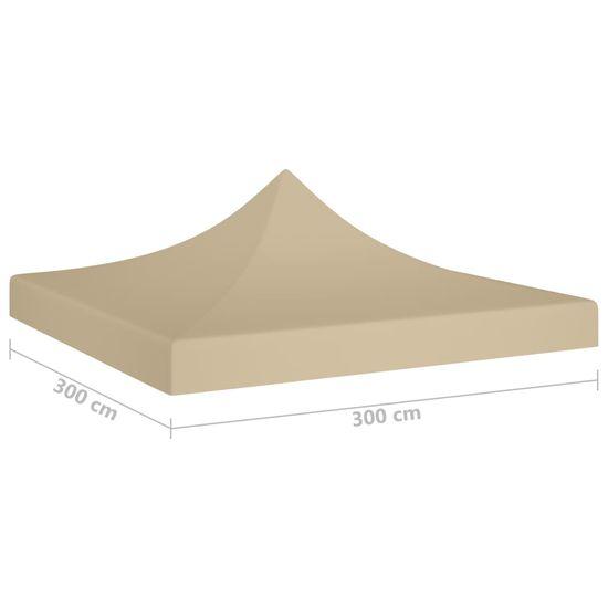 shumee bézs tető partisátorhoz 3 x 3 m 270 g/m²