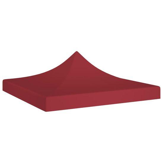 shumee Dach do namiotu imprezowego, 2 x 2 m, burgundowy, 270 g/m²