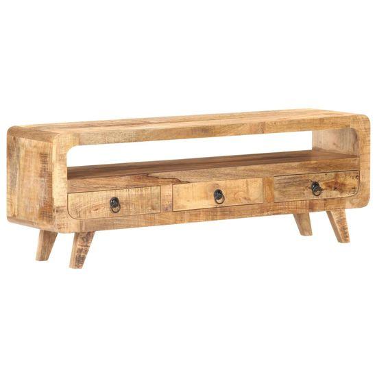 shumee stojalo za televizor 117x30x41 cm Rough Mango Wood