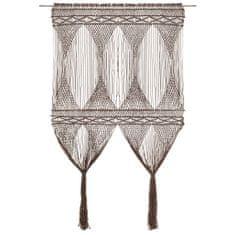 shumee Záclona macrame sivo-hnedá 140x240 cm bavlna