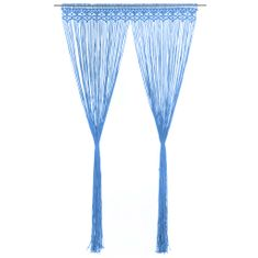 shumee Záclona macrame modrá 140x240 cm bavlna