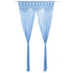 Petromila Záclona macrame modrá 140x240 cm bavlna
