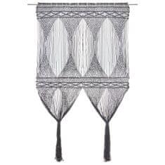 Petromila Záclona macrame antracitová 140x240 cm bavlna