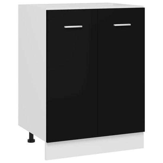 shumee Kuhinjska omarica Črna 60x46x81,5 cm iverna plošča