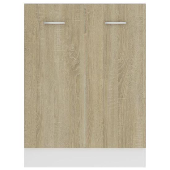 shumee Kuhinjska omara hrast sonoma 60x46x81,5 cm iverna plošča