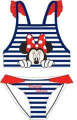 "Eplusm Dekliške dvodelne kopalke ""Minnie Mouse"" - modra - 116–122 / 6–7 let"