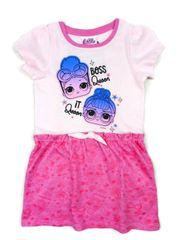 """Eplusm Otroška obleka """"LOL"""" - roza - 98 / 2–3 leta"""