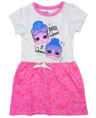 "Eplusm Otroška obleka ""LOL"" - siva - 98 / 2–3 leta"