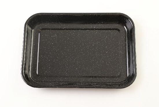 OLYMP emajliran pekač, črn granit, 36,5 x 29,5 x 5 cm