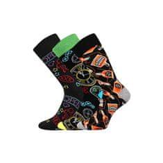 Lonka 3PACK veselé ponožky viacfarebné (Debox mix A) - veľkosť L