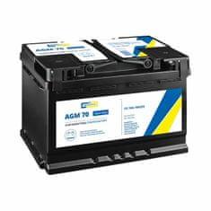 CARTECHNIC Autobaterie AGM 70 Ah 12V, pro start-stop systém, 278x175x190 mm - Cartechnic