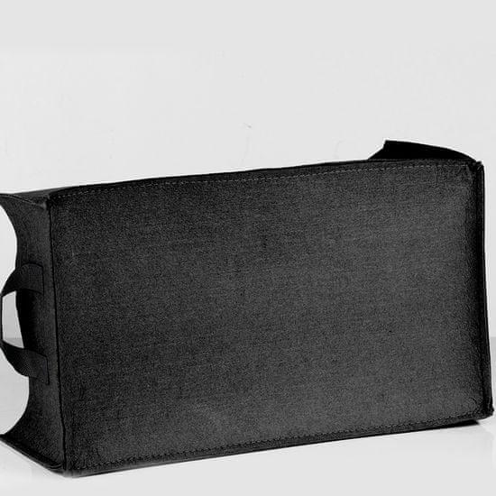 HomeOgarden PlantIN vreća za sadnju, pravokutna, 57 L, črna