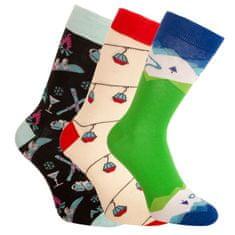 Bellinda 3PACK ponožky crazy vícebarevné (1004-305 B) - velikost L