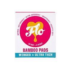 Flo Ultra tenké menstruační vložky z bio bambusu s křidélky mix 10 ks denních a 5 ks nočních